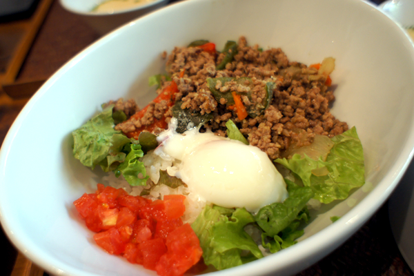 挽き肉のバジルご飯(ガパオライス) アップ
