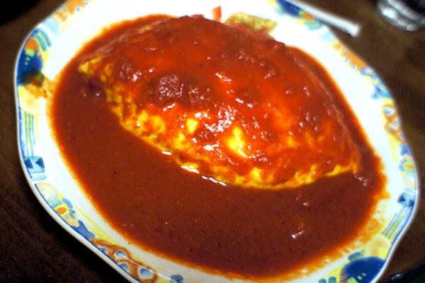 オムライス トマトソース