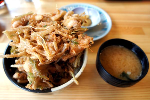 イカかき揚丼