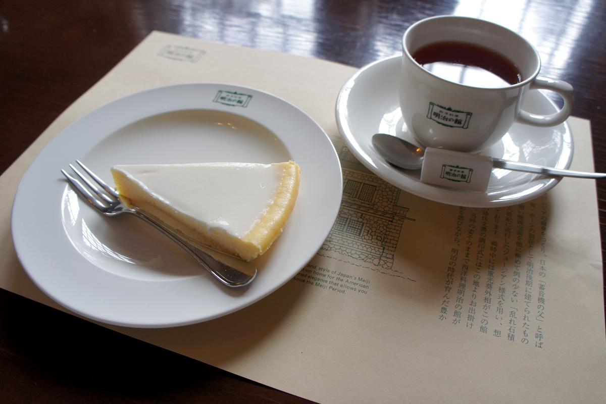 チーズケーキ(ニルバーナ)と紅茶