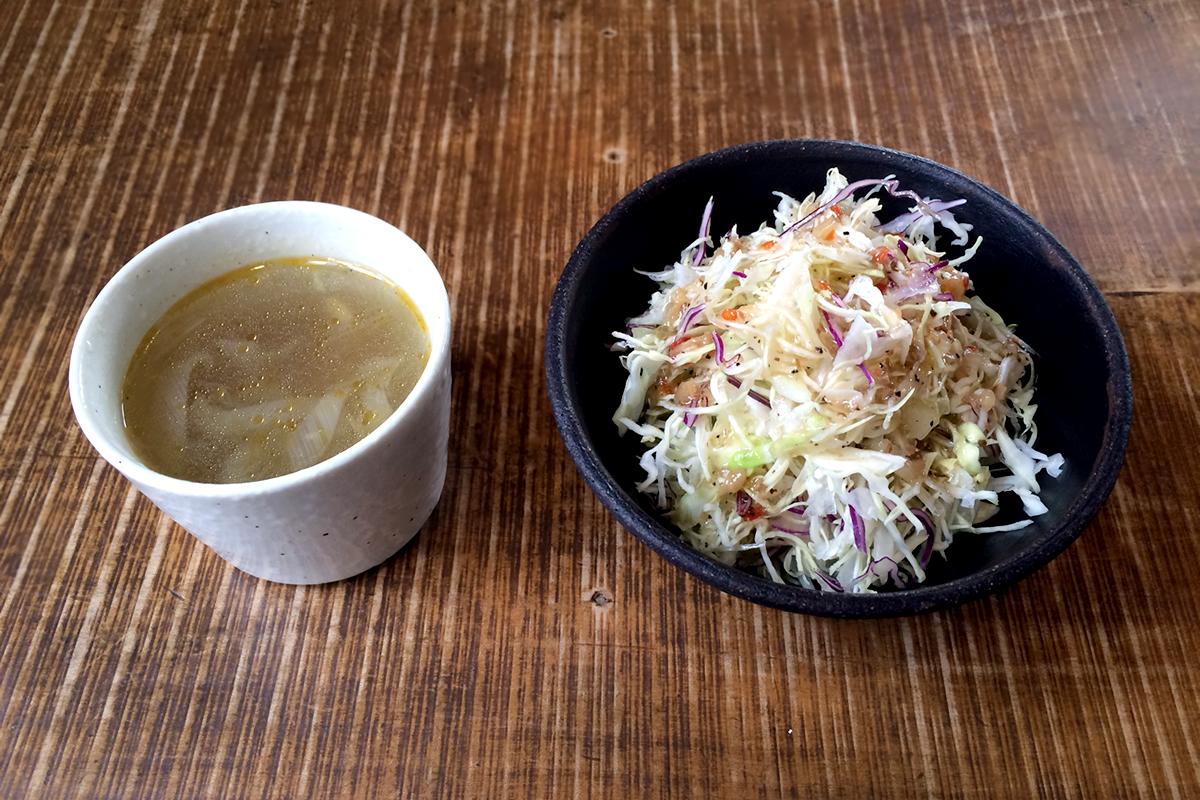 キッチン・カフェ 茶房主(さぼうず) サラダ、スープ